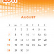 Monthly vector calendar for 2011 — Grafika wektorowa