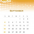 Monthly vector calendar for 2011 — Stock Vector #4611845