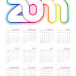 Colorful vector calendar for 2011 — Stock Vector #4611867