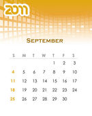 Monthly vector calendar for 2011 — Stock Vector