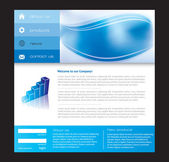 Website template in editable vector format — Stock Vector