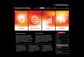 Website template in editable vector format — Stock Vector