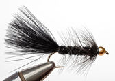 Versatile Fishing Fly that Imitates a Minnow. — Stock Photo