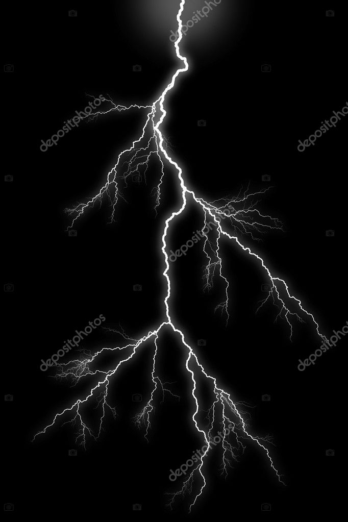Lightening bolt on black background. — Stock Photo #5075205
