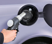 Putting gas into the car — Stock Photo