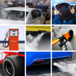 Collage of petroleum industry — Stock Photo