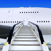 Staircases and plane — Stock Photo