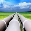 Gas pipe line — Stock Photo