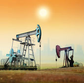 Oil pumps — Foto Stock