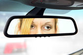 Rear-view mirror — Stock Photo