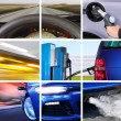 Collage of transport attributes - Stock Photo