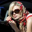 mujer rubia de moda — Foto de Stock