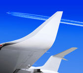 Wing of plane — Stock Photo