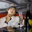 Man drinking champagne — Stock Photo #4733058