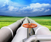 Gas-transmission pipeline — Stock fotografie