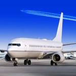 letadlo na letišti — Stock fotografie
