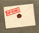 Top secret envelope — Stock Photo