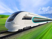 Super streamlined train — Stock Photo