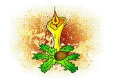 Candle — Vector de stock