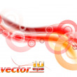 Stock Vector: Red wave