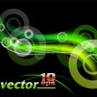 Green rays - Stock Vector