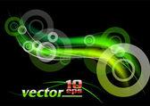 Green rays — Stock Vector