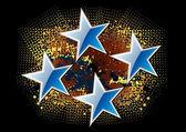Estrelas azuis — Vetor de Stock