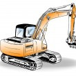 Excavator - Stock Vector
