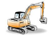 Escavadeira — Vetorial Stock