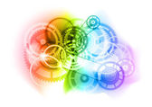 Industrial cogwheels — Stock Vector