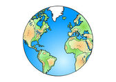 Globus der welt — Stockvektor