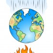 global warming — Stock Vector