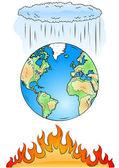 Globala uppvärmningen — Stock vektor