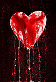 Broken heart - bleeding heart — Stock Photo