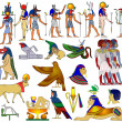 Various themes of ancient Egypt - vector — Stock Vector