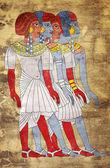 Fresco of Women of Ancient Egypt — Stock Photo