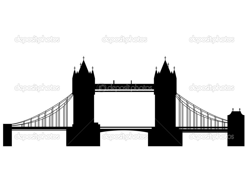 Tower Bridge is a combined bascule and suspension bridge in Londonover the River Thames - vector — Stock Vector #4327857