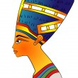 Queen of Ancient Egypt - vector — Stock Vector
