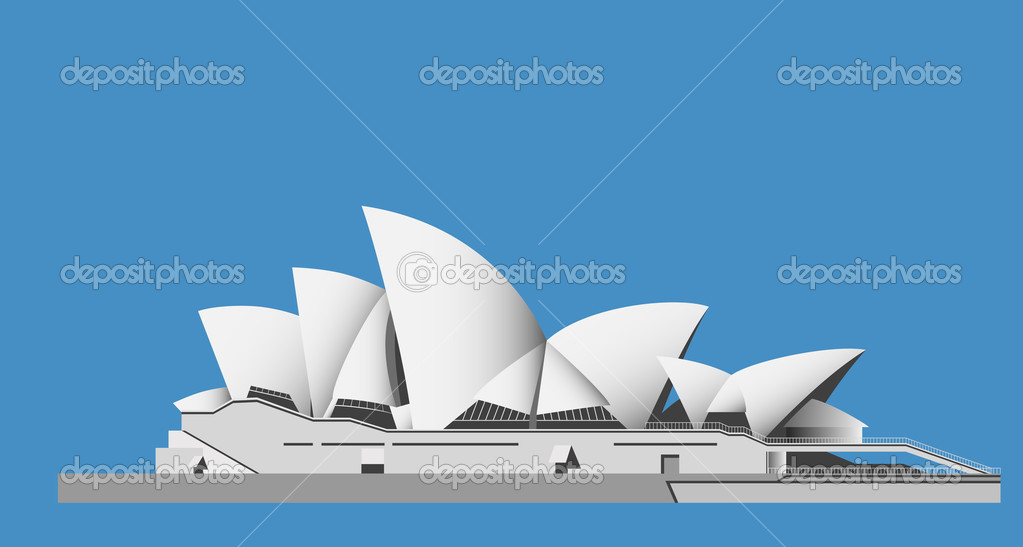 Illustrationof the Sydney Opera House Sails - vector  Stock Vector #4590499