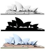 Sydney Opera House - vector — Stock Vector