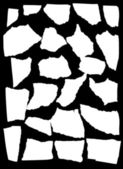 Vector mask looks like tattered paper — Stock Vector