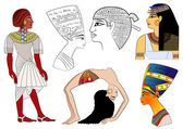 Elements of ancient Egypt - vector — Stock Vector