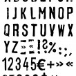 Vector alphabet in grunge style — Stock Vector