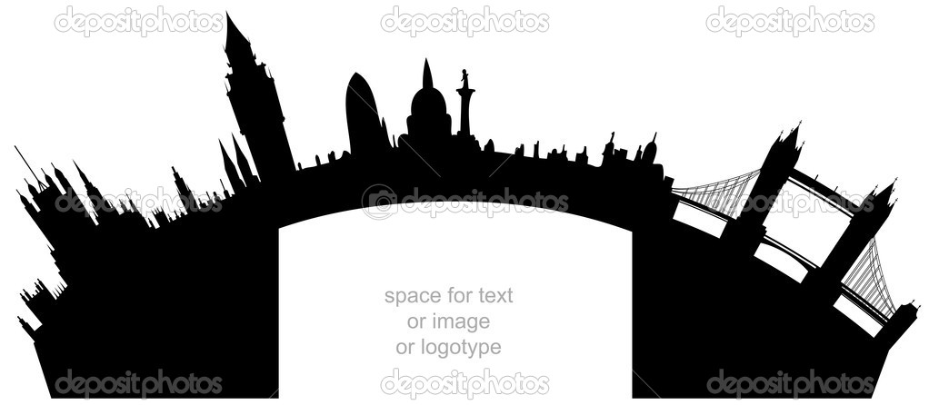 Illustration of the London skyline - space for text — Stock Vector #5331893
