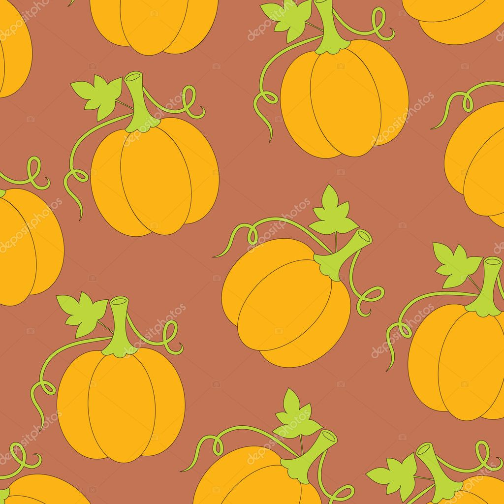 Wallpaper pattern with pumpkins  Imagen vectorial #3998453