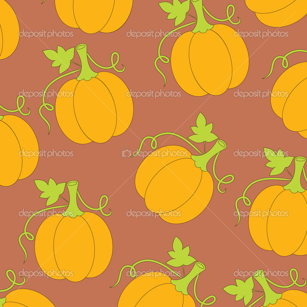 Wallpaper pattern with pumpkins  Stockvectorbeeld #3998453