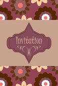 Floral invitation — Stock Vector