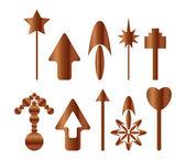 Wooden arrows — Stock Vector