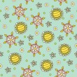 Royalty-Free Stock Vector Image: Seamless floral background