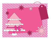 Christmas girlish vector card — Stock Vector
